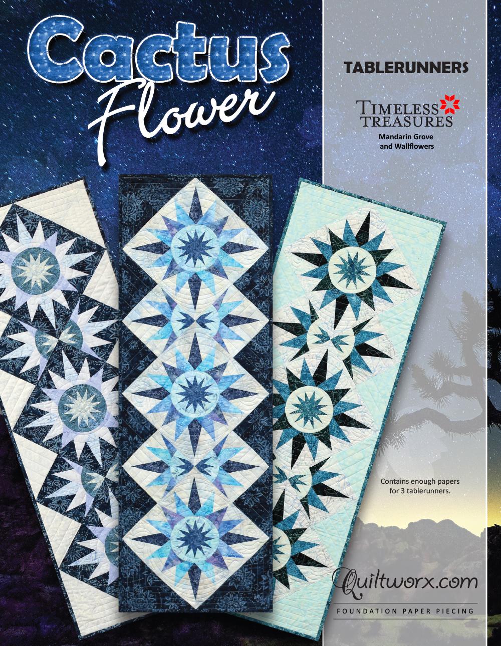 """Cactus Flower Table Runner - 17"""" x 51"""""""
