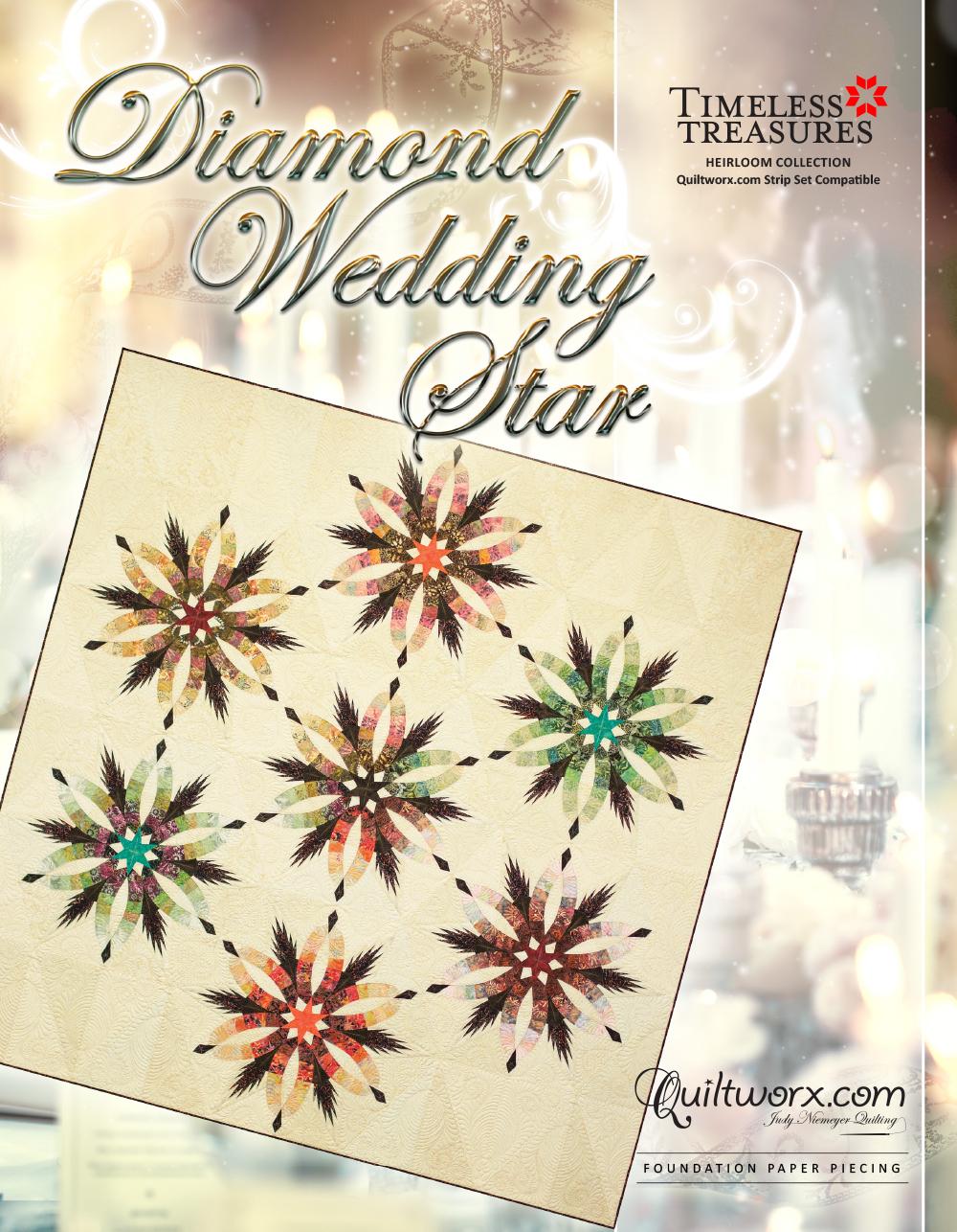 """Diamond Wedding Star - 96"""" x 99"""""""