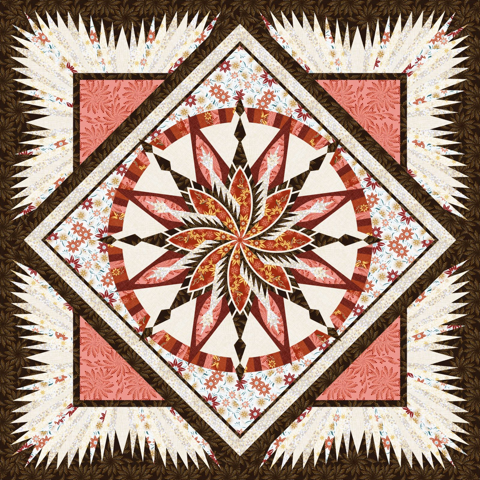 Silver Shores Desert Rose • 1 Left • 99x99 • $325.00 Fabric Only $439.00 Kit with Pattern