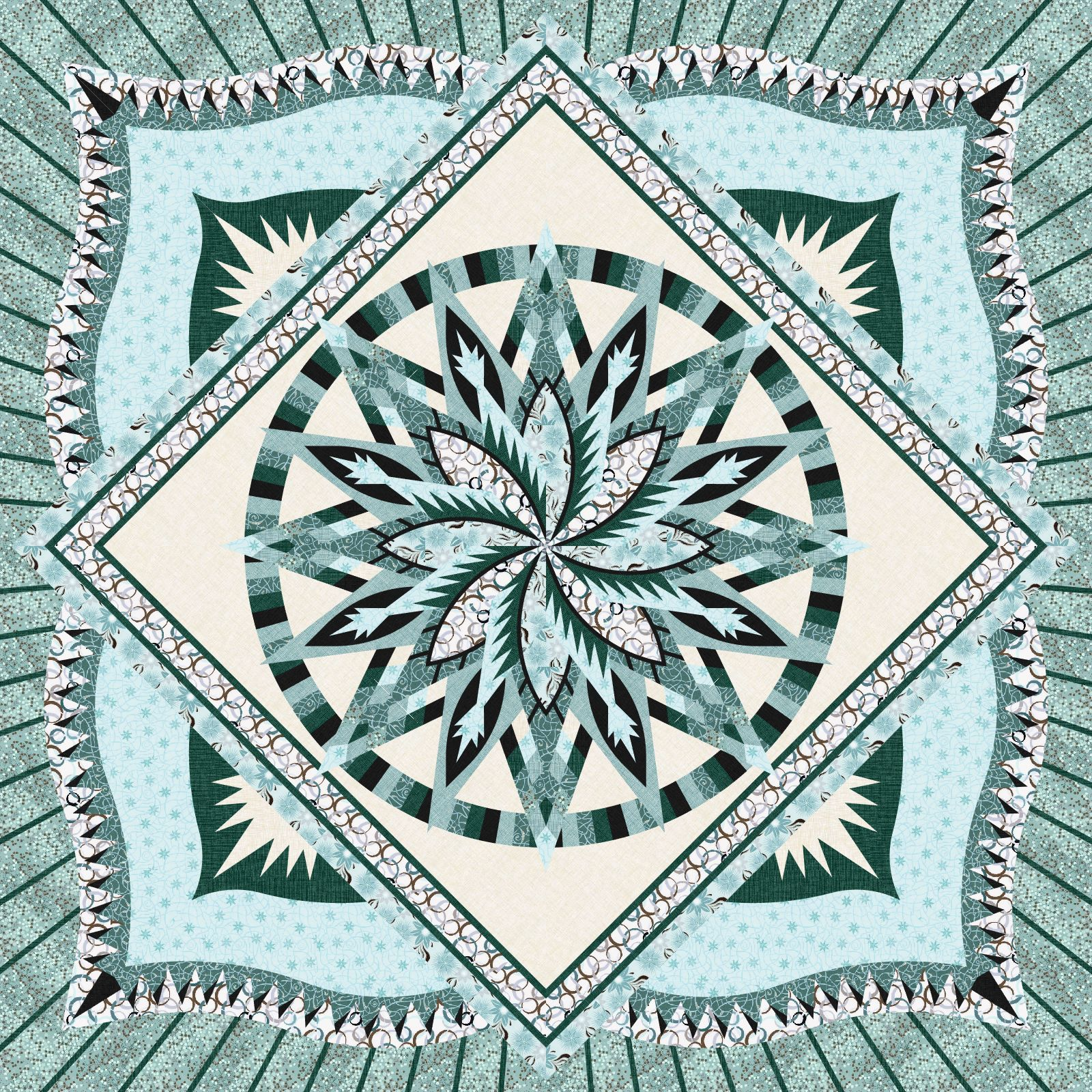 Silver Shores Desert Rose 2 • 99x99 $300.00 Fabric Only $420.00 Kit with Pattern