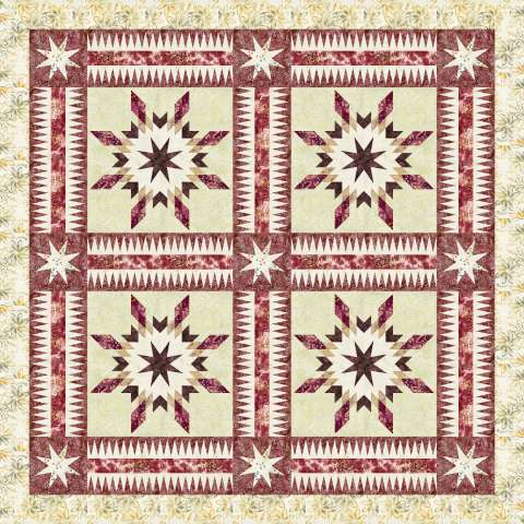 Southern Belles • 64x64 or 72x72 $180.00 Fabric Only Sale: $209.25 ($219.00) Kit with Pattern