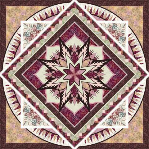 Swordfish • 99x99 • 3 Left $308.00 Fabric Only $410.50 Kit with Pattern