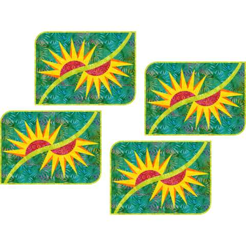 Broken Daisy Placemats • 14x17 • 3 Left $57.00 Fabric Only Sale: $70.88 ($75.00) Kit with Pattern