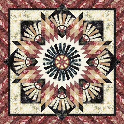 Tarnished Windmill • 1 Left • 60x60 $122.00 Fabric Only Kit $144.00 Kit with Replacement Papers $162.50 Kit with Pattern