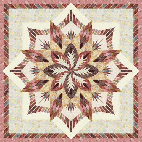 Sedona 85x85 • 3 Left $220.00 Fabric Only $270.50 Kit with Pattern