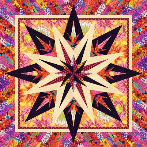 Trifari Jewels in Kaffe 45x45 $75.00 Fabric Only Kit $114.50 Kit with Pattern
