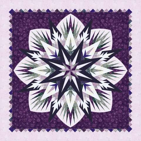 Cosmic Shimmer • 68x68 $161.00 Fabric Only $215.00 Kit with Pattern