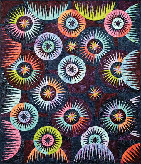 Sea Urchins • 66x77 3 Left $283.00 Fabric Only Sale: $326.13 ($340.50) Kit with Pattern