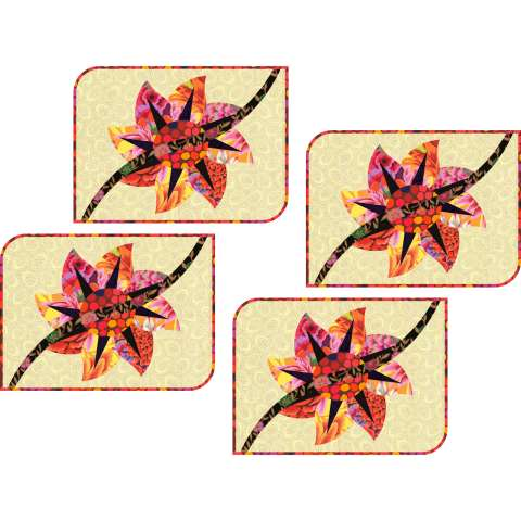 Dahlia Placemats 14x17 $48.00 Fabric Only $54.00 Kit with Replacement Papers Sale (with free shipping) $63.00 ($68.00) Kit with Pattern
