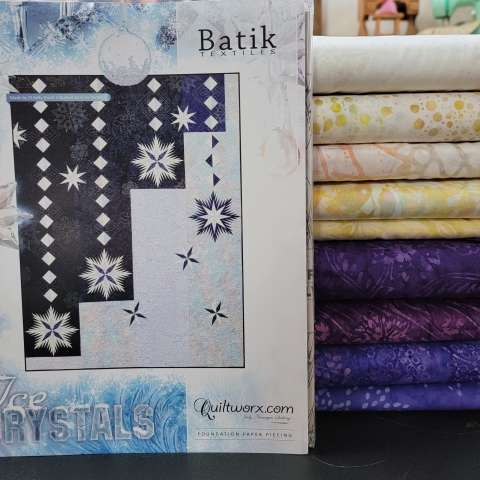 Ice Crystals 64x84 $183.00 Fabric Only $207.00 Kit with Replacement Papers Sale (with free shipping) $213.38 ($223.50) Kit with Pattern