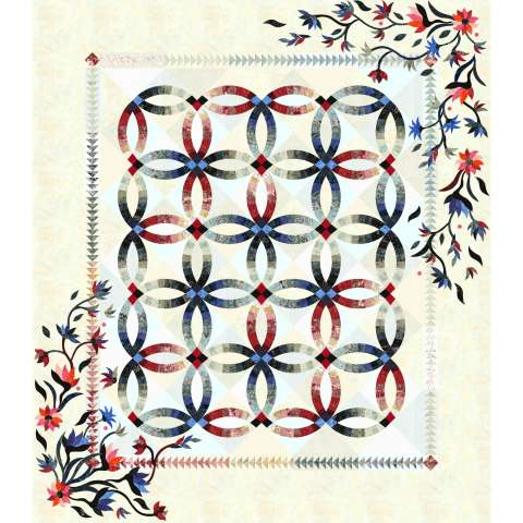 Flowers for my Wedding Ring • 87x100 • 2 Left $318.00 Fabric Only Sale (with free shipping) $398.25 ($425.00) Kit with Pattern