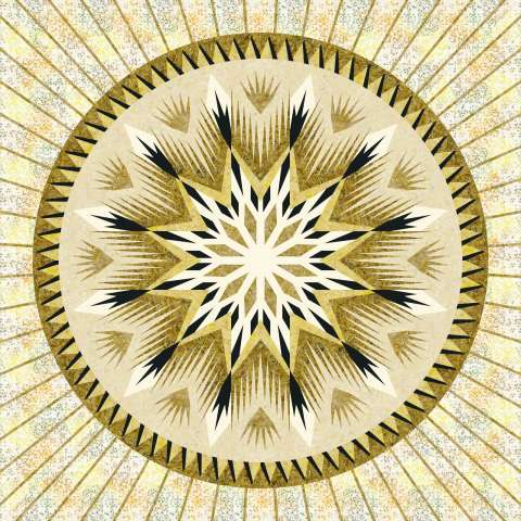 Daggered Medallion 80x80 • 3 Left $247.00 Fabric Only Sale (with free shipping): $302.13 ($320.50) Kit with Pattern