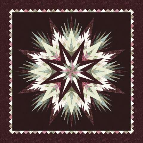 Cosmic Shimmer • 68x68 $157.00 Fabric Only $211.00 Kit with Pattern