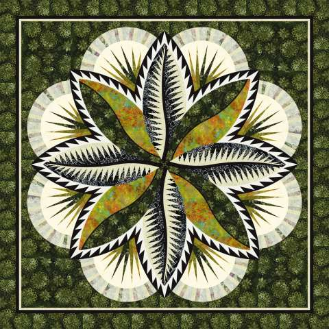Fire Island Hosta • 74x74 Kit with Pattern $243.00 $292.00