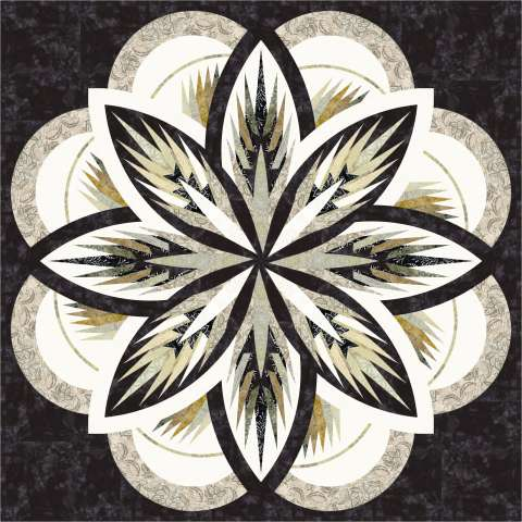 Sea Holly • 65x65 Kit with Pattern $179.00 $215.00