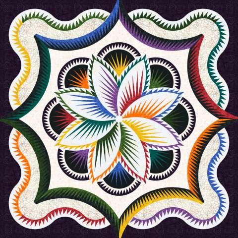 Rainbow Hosta • 3 Left • 100x100 Kit with Pattern $395.00 $464.50
