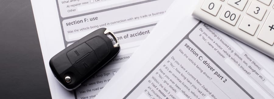 Vehicle insurance claim form
