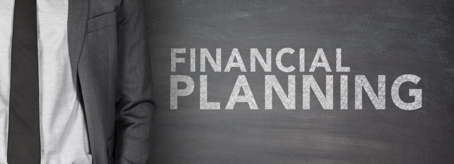 Financial planning blackboard.