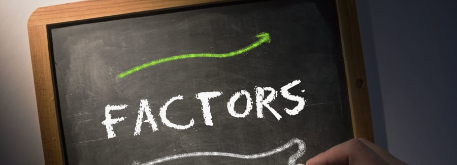 Factors written on a chalkboard