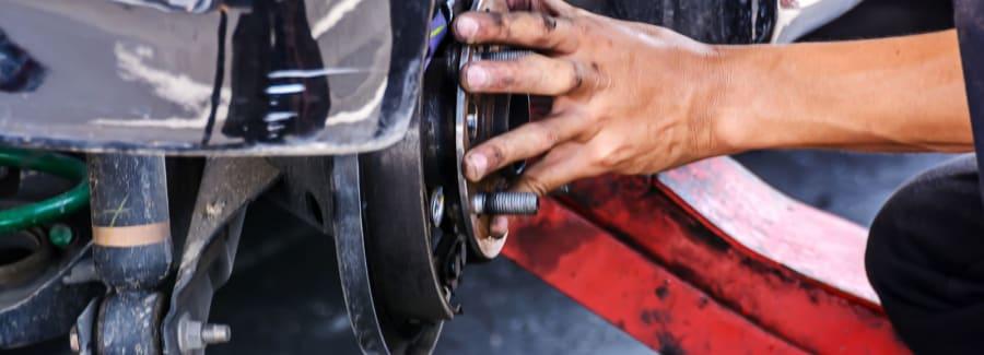 Car repair close up.