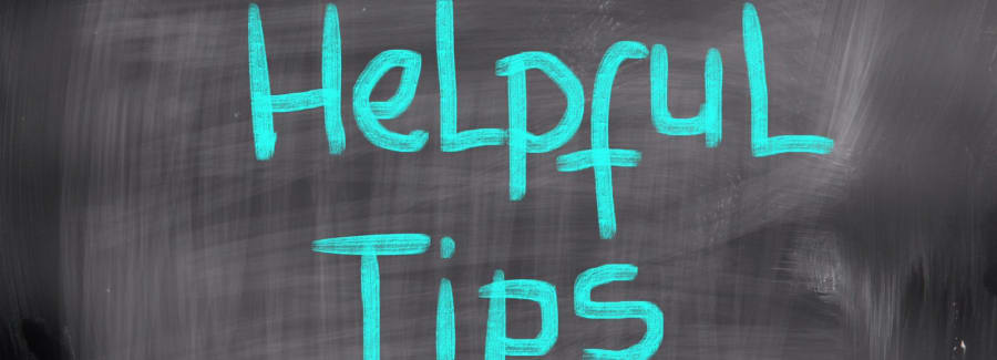 """Helpful tips"" written on chalkboard"