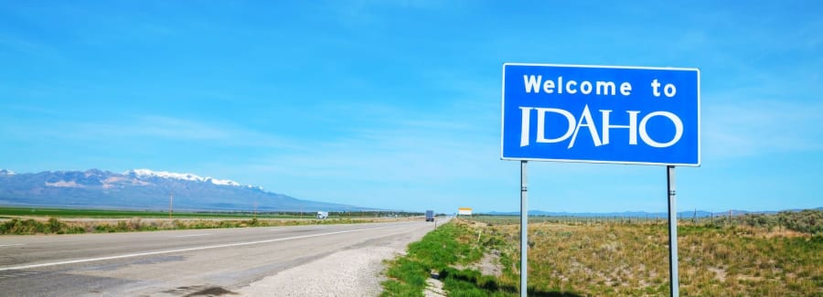 Welcome to Idaho sign