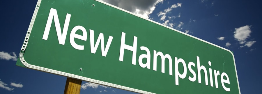 New Hampshire state sign