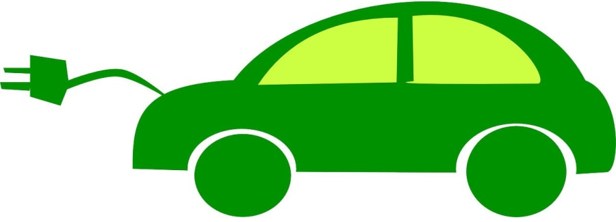 Eco friendly car vector.