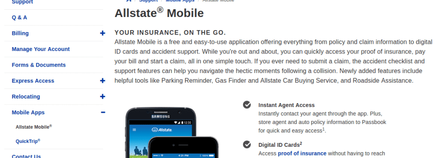 Allstate Mobile App Description