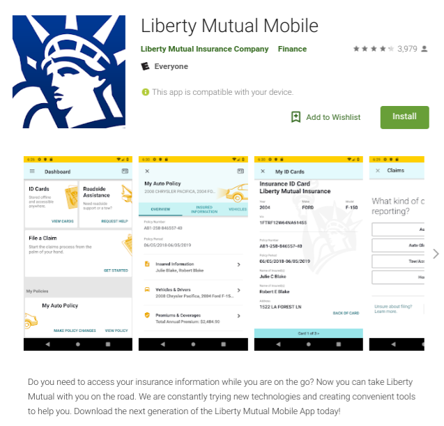 Liberty Mutual Insurance Mobile App