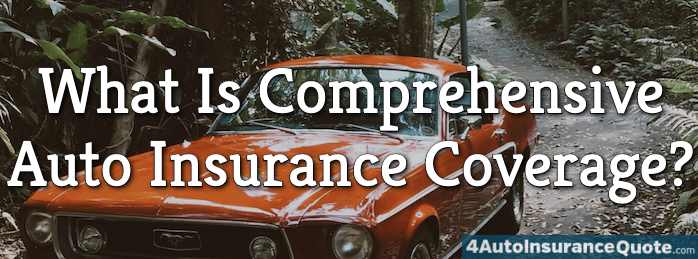 comprehensive auto insurance coverage