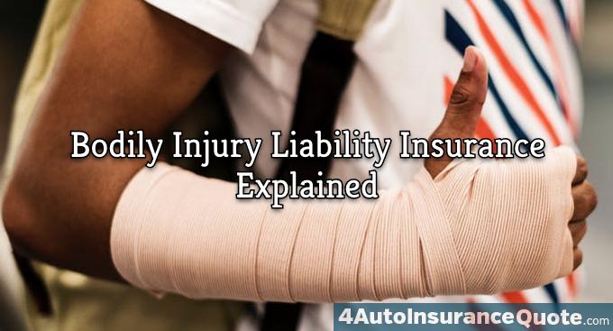 bodilyn injury liability coverage