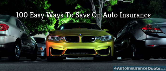 100 ways to save on car insurance