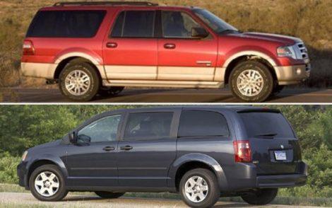 minivan or suv cheaper insurance
