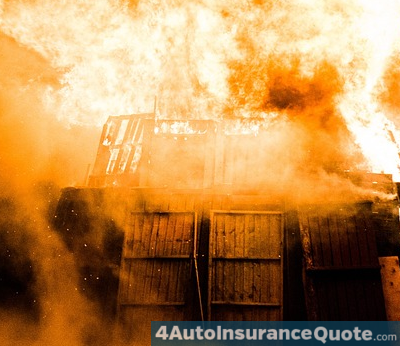 garage burns down car insurance