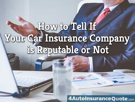 how to tell if your insurance company is reputable