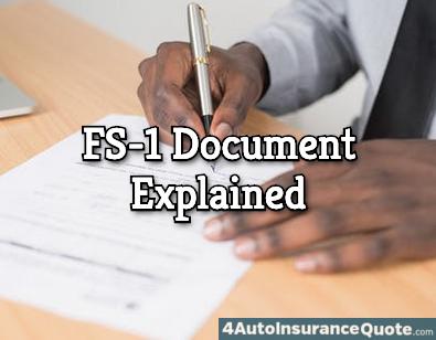 fs-1 car insurance document