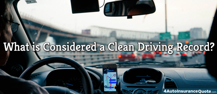 what is considered a clearn driving record
