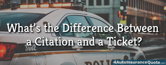 difference between citation and ticket