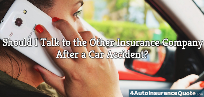 talking to the other insurance company after a car accident