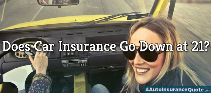 does car insurance go down at 21?