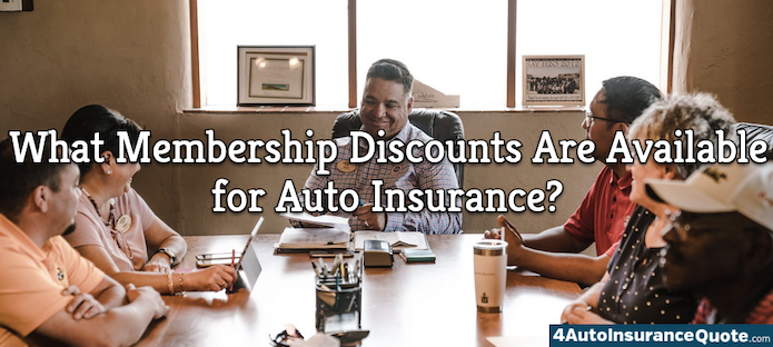 what membership discounts are available for auto insurance?