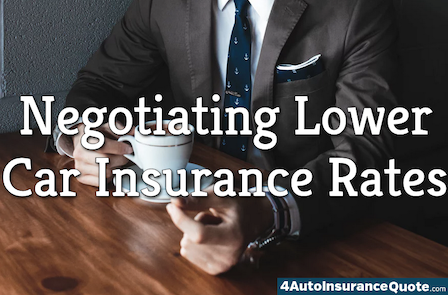 negotiating lower car insurance rates
