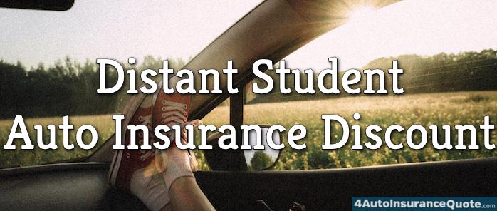 distant student auto insurance discount