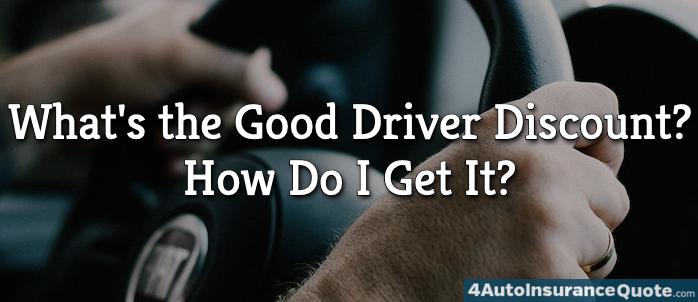good driver discount