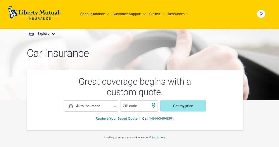 Liberty Mutual Car Insurance Quote Home Page