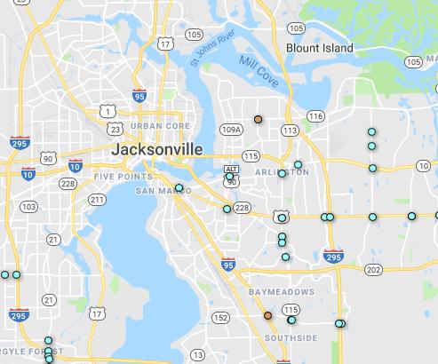 Red-light cameras in Jacksonville