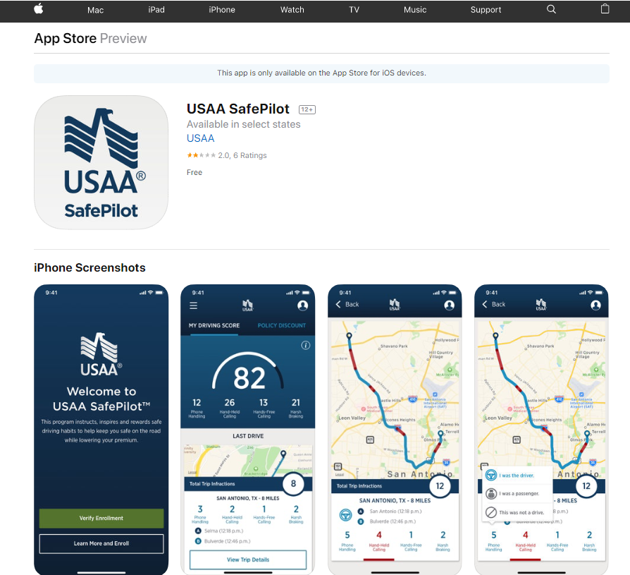 USAA Driving App