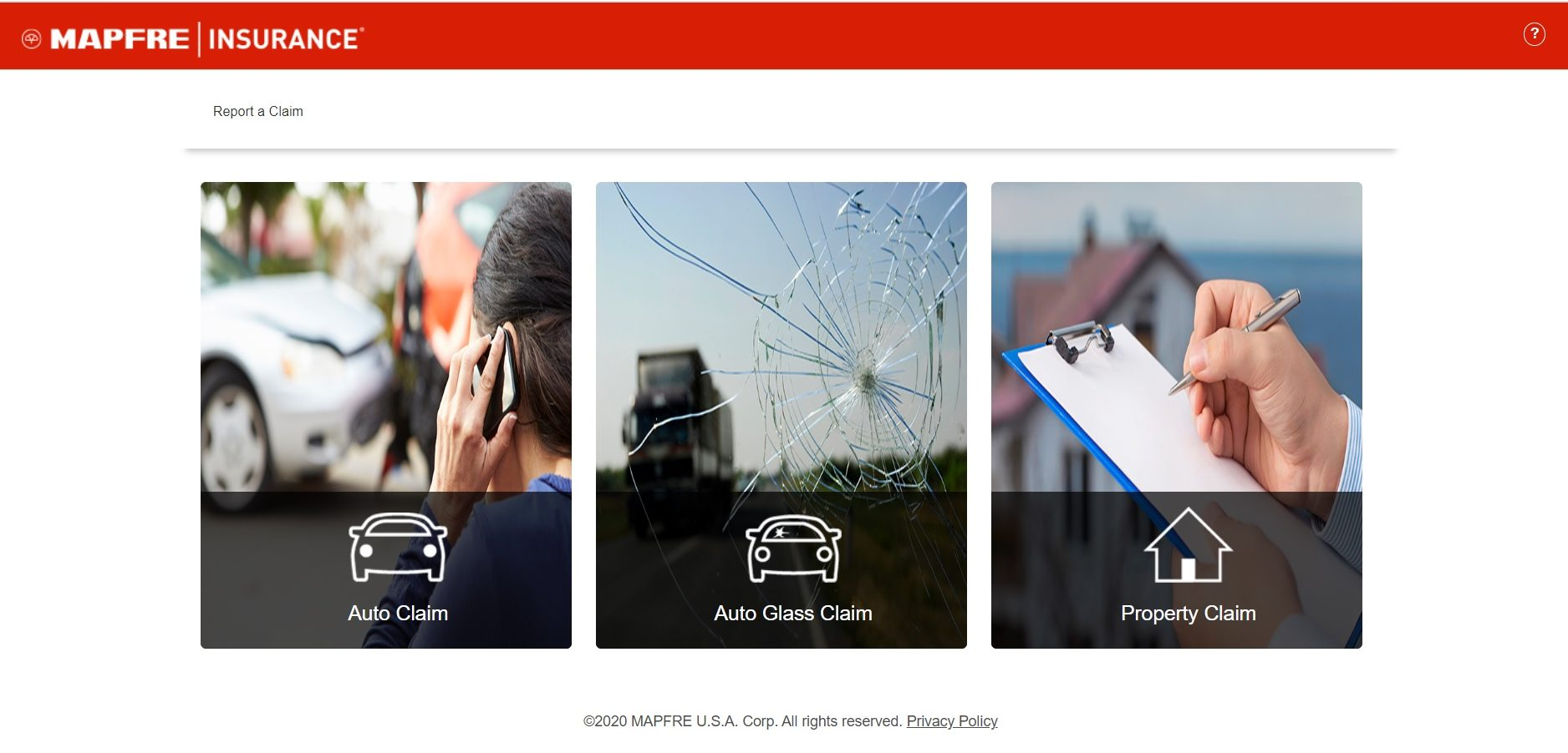 MAPFRE Auto Insurance Home Page