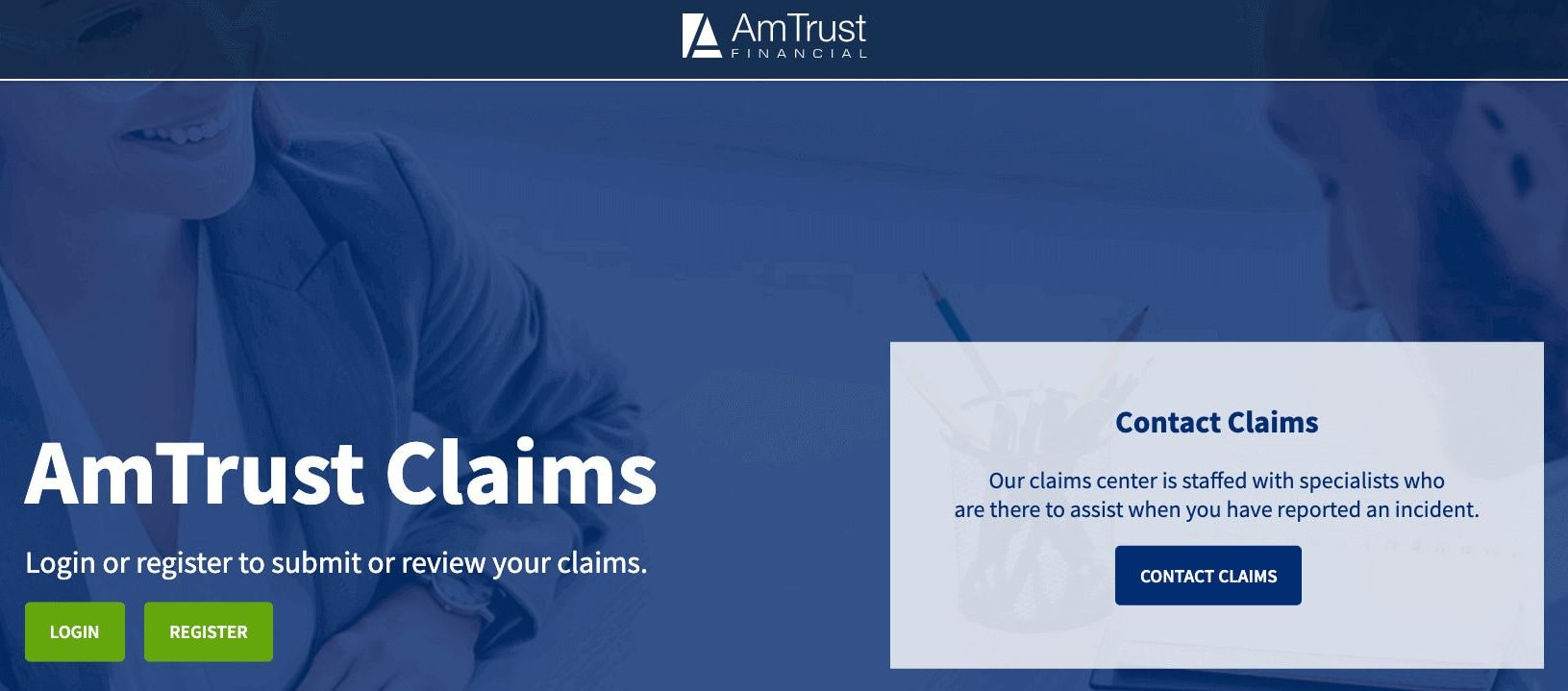 AmTrust Financial Wesco Insurance Online Claims Page
